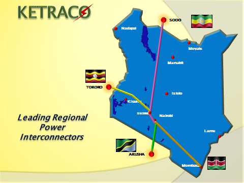 Map Showing Regional Interconnectors